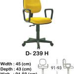 kursi staff & secretary indachi d- 239 h