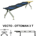 kursi tunggu indachi type vecto - ottoman 3 t