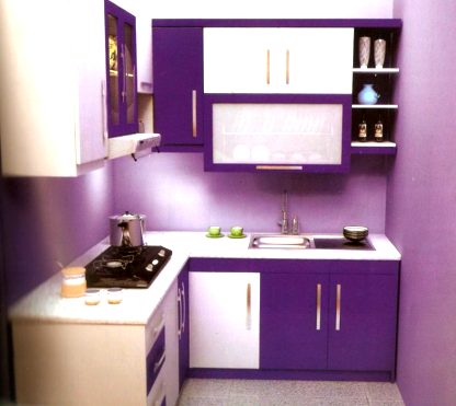 Ide Penting 48 Kitchen Set Minimalis Warna Ungu